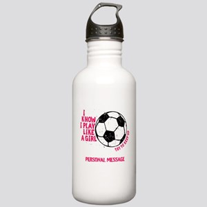Personalized Soccer Girl Stainless Water Bottle 1.